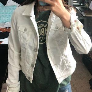 American Eagle white denim/jean jacket